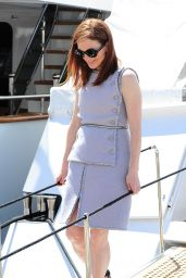 Julianne Moore - Leaving a Yacht in Cannes, France May 2015