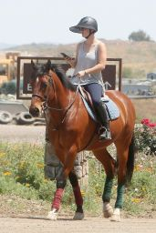 Kaley Cuoco Riding a Horse in Moorpark, April 2015