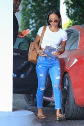 Karrueche Tran - Arrives at a Meeting in Los Angeles, April 2015