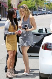 Kate Hudson Leggy in Mini Dress - Out in Beverly Hills, May 2015
