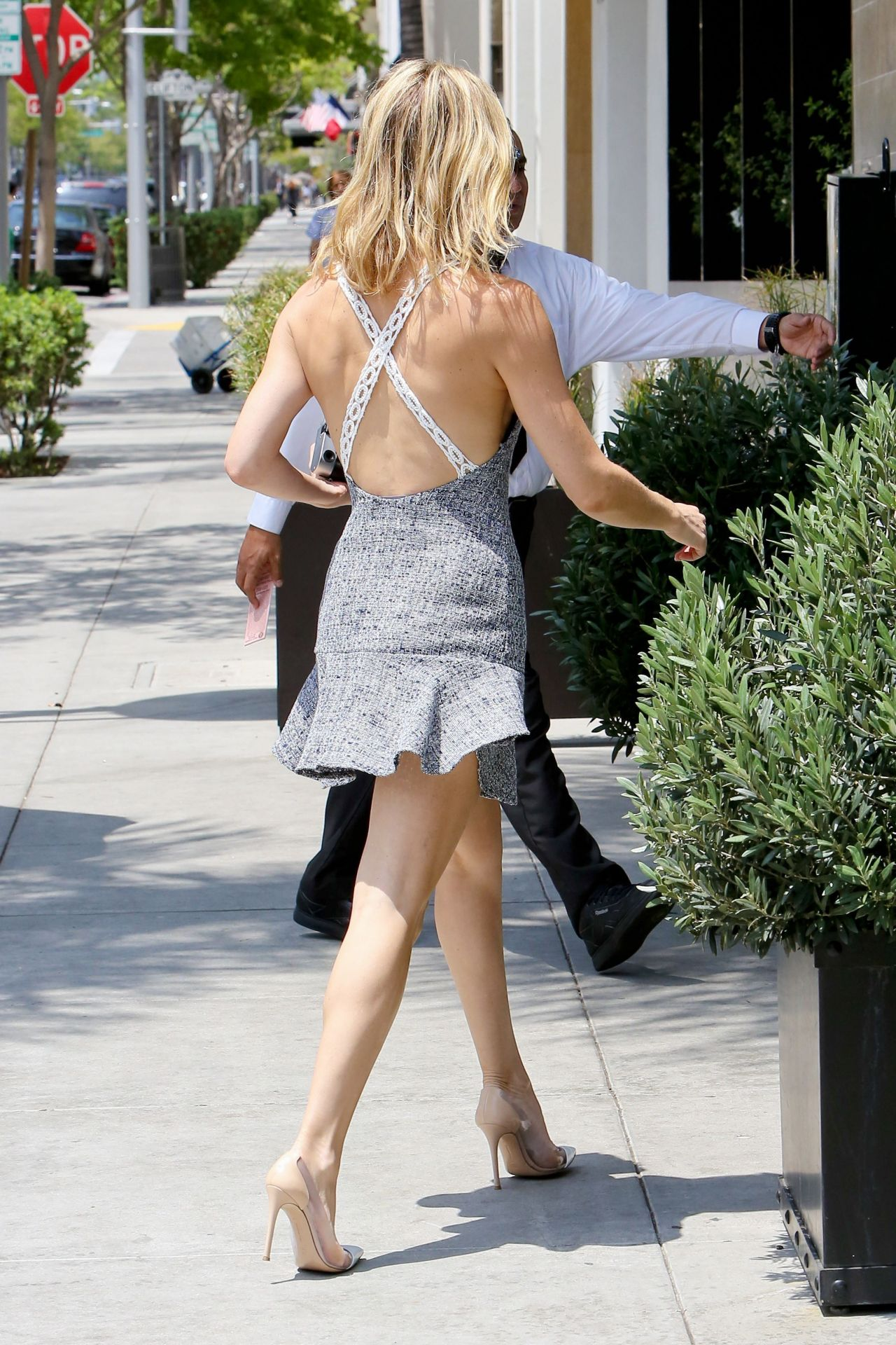 Kate Hudson Leggy in Mini Dress - Out in Beverly Hills ...