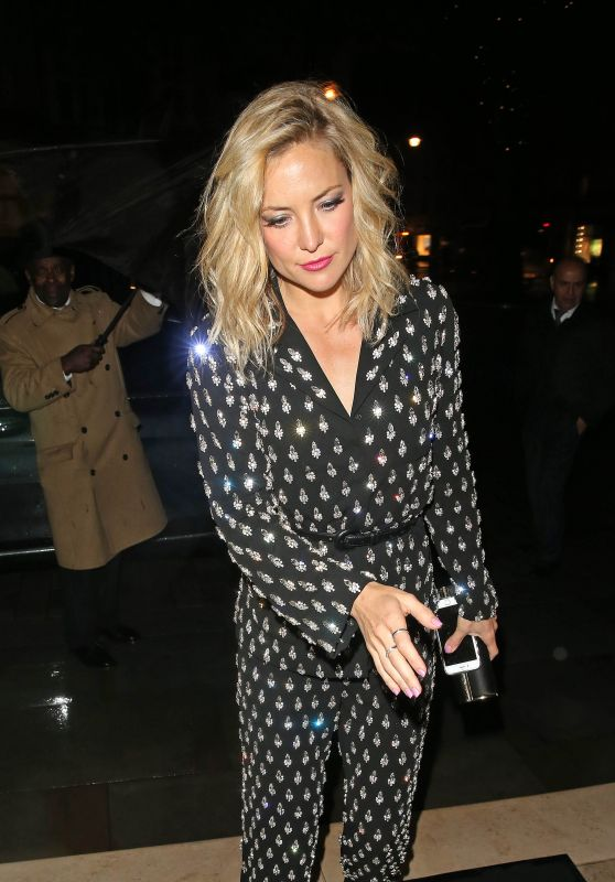 Kate Hudson Night Out Style - Out in London, May 2015