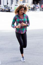 Kelly Bensimon - Jogging Around the Streets of New York, April 2015