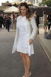 Kelly Brook All in White - Out in Cannes, May 2015