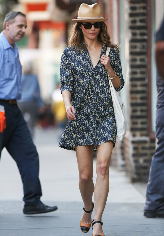 Keri Russell in Mini Dress - Out in NYC, May 2015