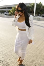 Kim Kardashian Style - LAX Airport, May 2015