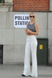 Kimberley Garner - Voting in Chelsea, May 2015