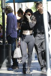Kylie Jenner Booty in Tights - at Urth Caffe in West Hollywood, May 2015