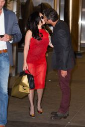 Lady Gaga - Gives Taylor Kinney a Loving Kiss at Nobu Restaurant in New York, May 2015