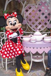 Lea Michele at Mickey