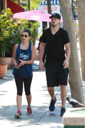 Lea Michele in Leggings - Out in Brentwood, May 2015