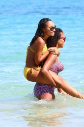 Leigh Anne Pinnock Bikini Candids - at the Beach While on Holiday in Jamaica, May 2015