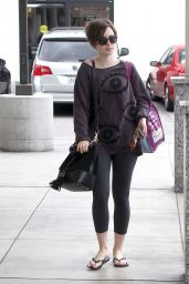 Lily Collins in Leggings - Out in Los Angeles, May 2015