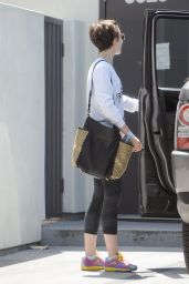 Lily Collins - Leaving a Gym in West Hollywood, May 2015
