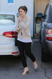 Lily Collins - Leaving a Hair Salon in West Hollywood, May 2015