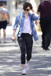 Lily Collins Leaving Pilates in West Hollywood, April 2015