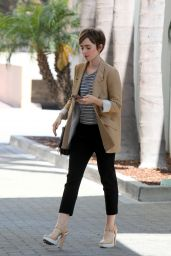 Lily Collins Out in Beverly Hills, May 2015