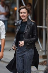 Lily Collins - Out in New York City, May 2015