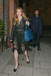 Lindsay Lohan Style - Out in London, May 2015