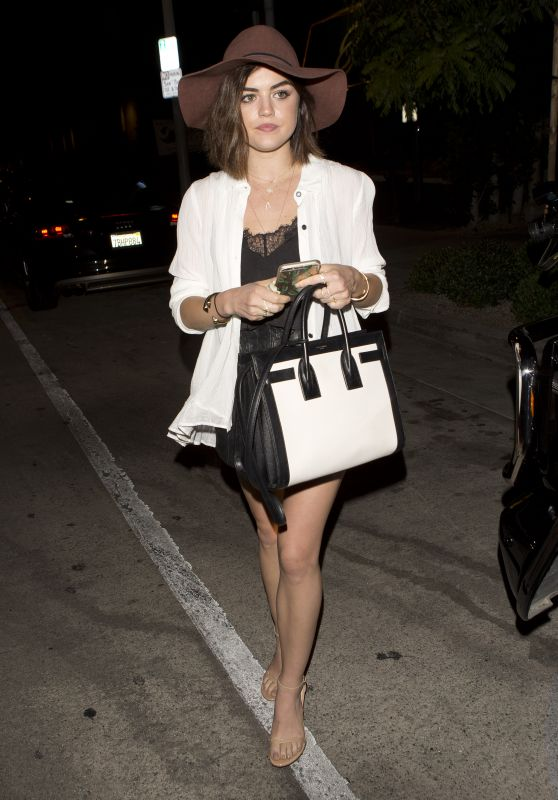 Lucy Hale Night Out Style - Leaving Gracias Madre in West Hollywood, May 2015
