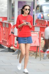 Lucy Watson Leggy in Mini Skirt - Out in London, May 2015