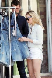 Margot Robbie Leggy in Shorts - Out in Toronto, Canada, May 2015