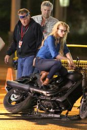 Margot Robbie - On the set of Suicide Squad in Toronto, May 2015