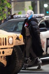 Margot Robbie - Suicide Squad Movie Set Photos, May 2015