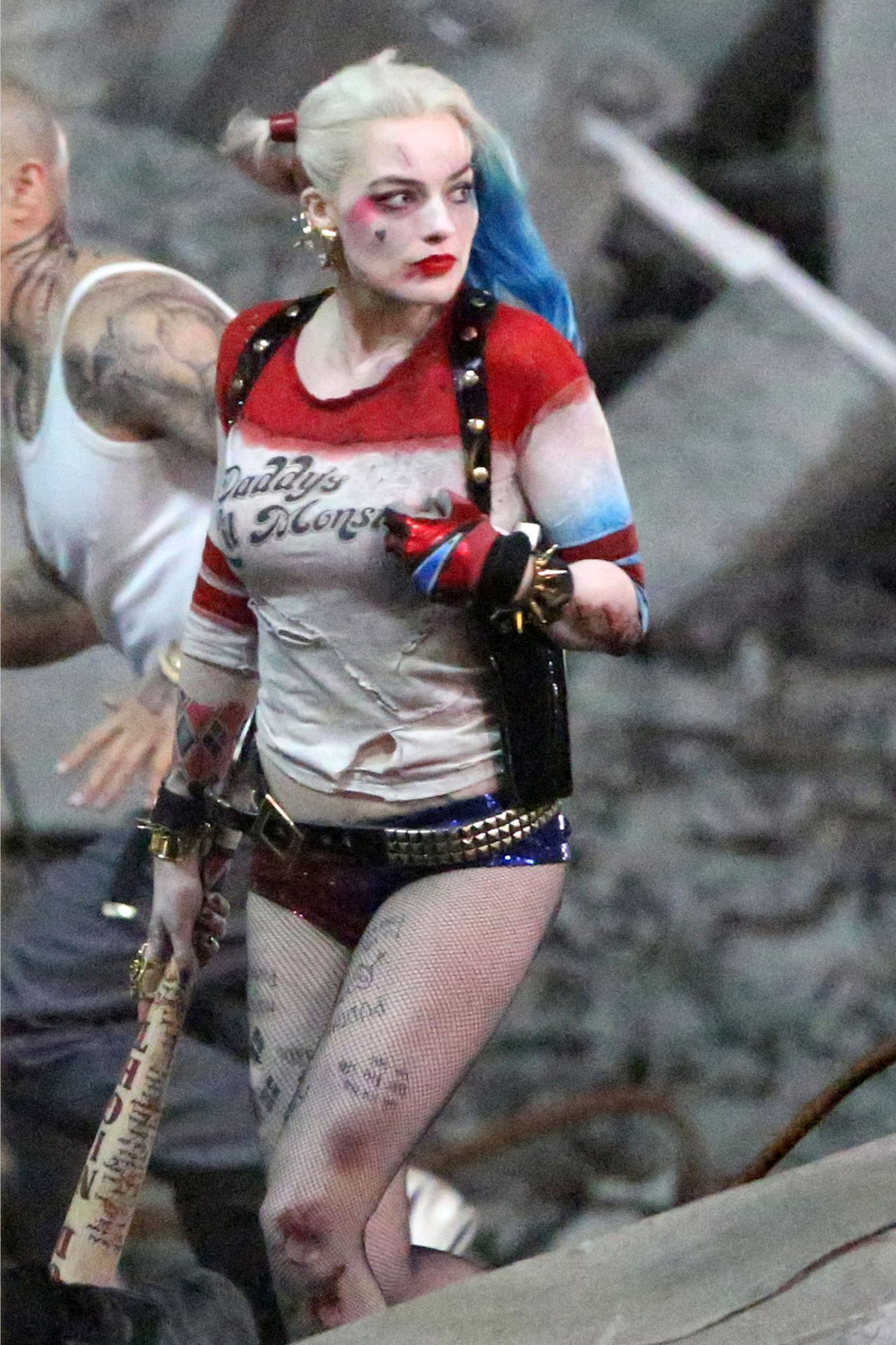 Margot Robbie Suicide Squad Set Photos May 2015