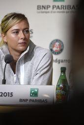 Maria Sharapova - 2015 French Open Media Day at Roland Garros