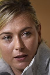 Maria Sharapova - 2015 French Open Media Day at Roland Garros