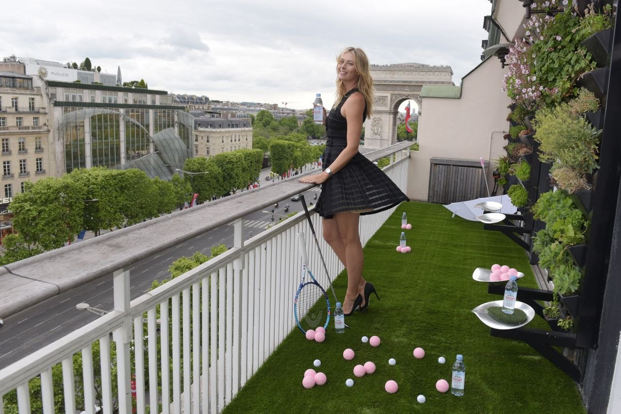 Maria sharapova evian sport season at maison du danemark in paris may 2015 - Maison du portugal a paris ...