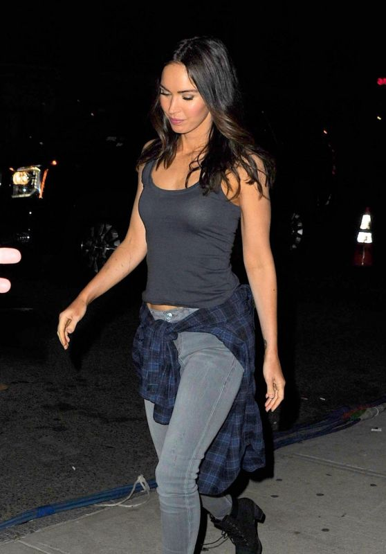 Megan Fox in a Tight Tank Top - Teenage Mutant Ninja Turtles 2 Set Photos - May 2015