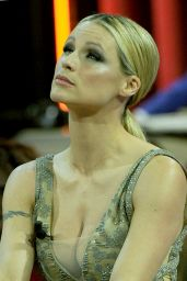 Michelle Hunziker Guest in TV Show in Milan, May 2015