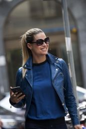 Michelle Hunziker - Out in Milan, May 2015