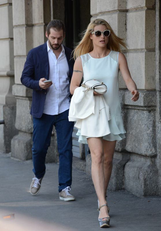 Michelle Hunziker & Tomaso Trussardi - Out on Mother