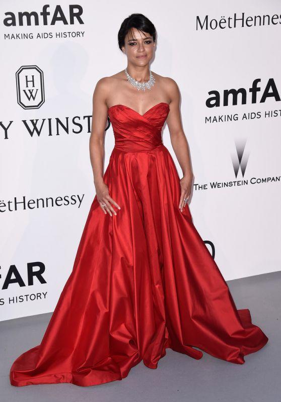 Michelle Rodriguez – 2015 amfAR Cinema Against AIDS Gala in Antibes (France)