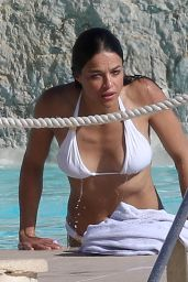 Michelle Rodriguez in White Bikini - at Swimming Pool in Cannes, May 2015