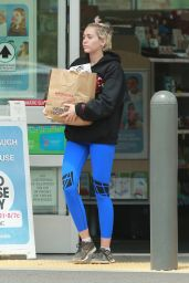 Miley Cyrus in Leggings at Walgreens, May 2015