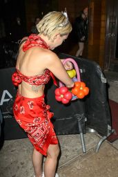 Miley Cyrus Night Out Style - at 1 OAK Nightclub in New York, May 2015