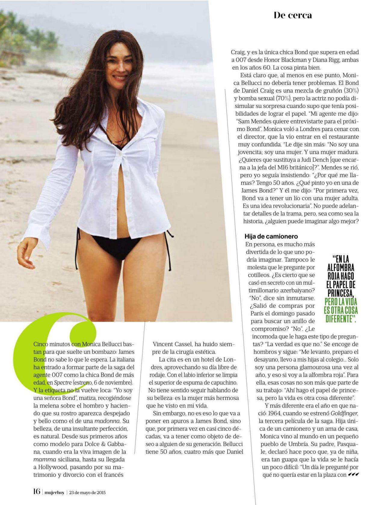 Monica Bellucci 2015 Monica Bellucci – Mujer Hoy