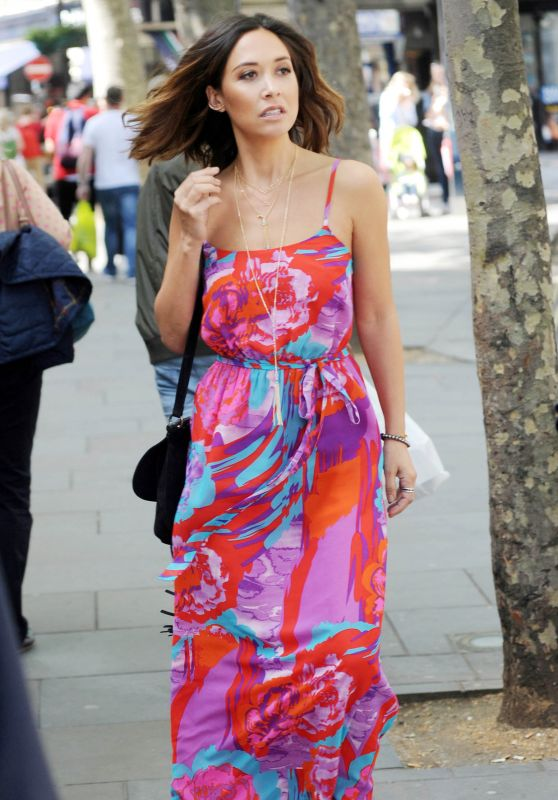 Myleene Klass Street Style - Out in London, May 2015