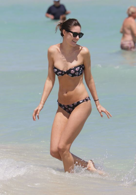 Nadejda Savcova Bikini Pics - at a Beach in Miami, April 2015