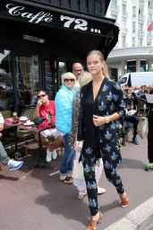 Nina Agdal Style - Out in Cannes, France, May 2015
