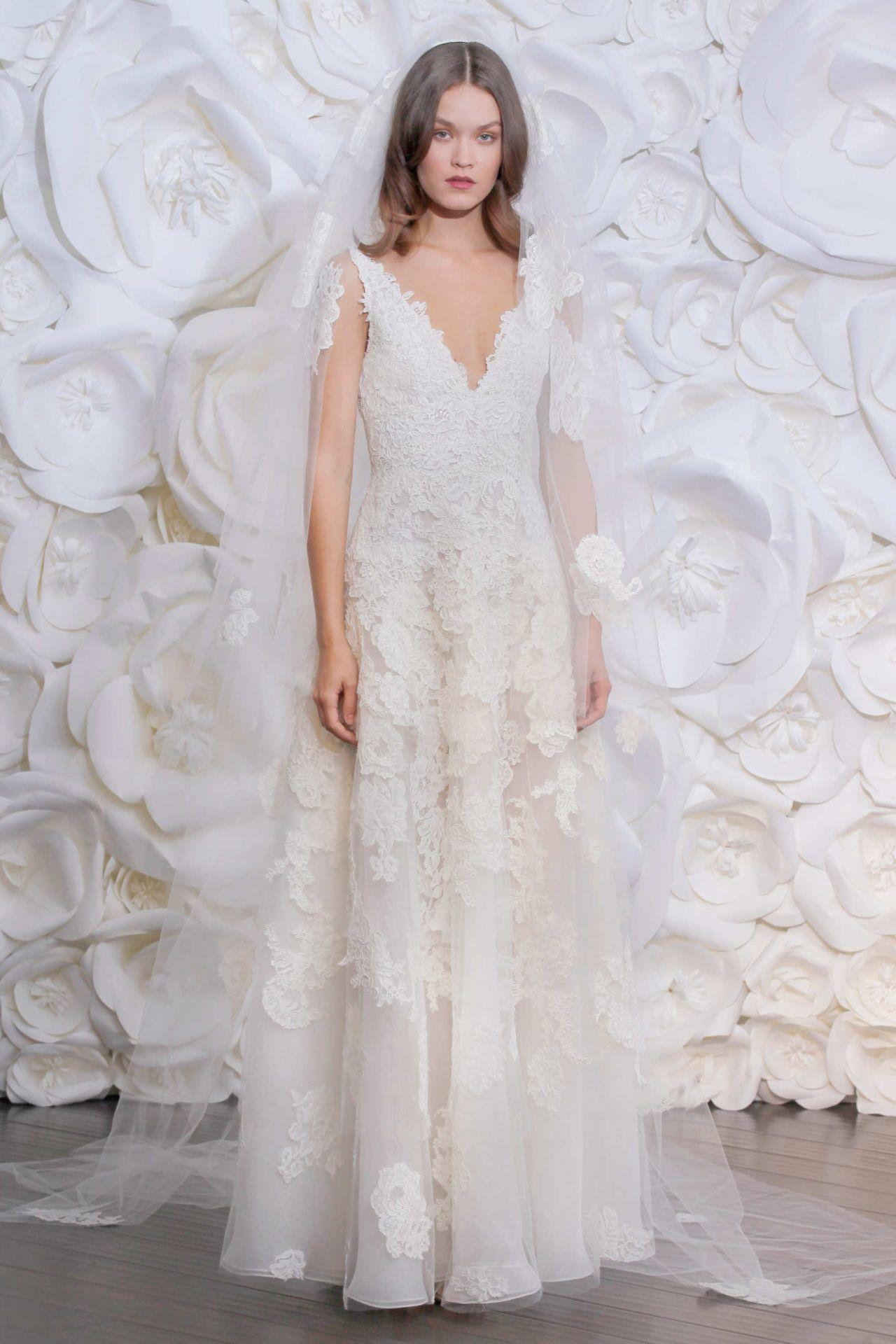 Olga vorosilova naeem khan bridal fall 2015 for Naeem khan wedding dress
