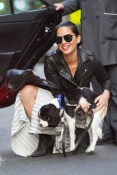 Olivia Munn - Out With Her Dog - New York City, May 2015