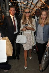 Paris Hilton - Aarrives at Euston Train Station and back to her Central London Hotel in London
