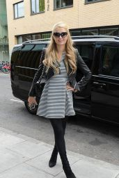 Paris Hilton Arrives at the Radio 1 Studios to Promote Her New Single, May 2015