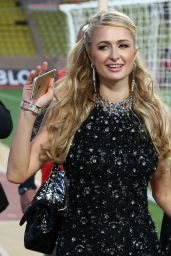 Paris Hilton at a Charity Football Match in Monaco, May 2015
