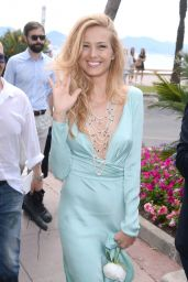 Petra Nemcova Style - On the Beach in Cannes, May 2015